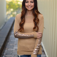 Wish Upon A Star Sweater- Mocha