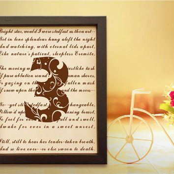 Lik77 Leather Engraved Wedding Third Anniversary three years personalized gift love poem