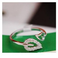Laconic and Elegant Two Pieces of Leaves Design Rings For Female China Wholesale - Everbuying.com