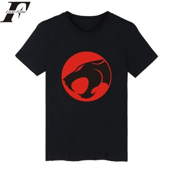 Harajuku funny T shirts THUNDERCATS EMBLEM Hip Hop Tee Shirt Tshirt men Camiseta Masculina Fitness Tshirt men Clothing
