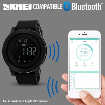 SKMEI Bluetooth Smart Watch Men Sports Watches Pedometer Calories Chronograph Women Digital