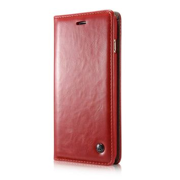 CaseMe PU Leather Magnet Flip Case For iPhone 6   6s - Red 2ce8f523aa