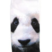 Okutani Panda Photo Womens Ped Socks - One Size