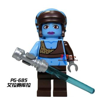 Single Sale star wars superhero Aayla Secura SW284 building blocks model bricks toys for children brinquedos menino
