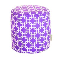 Small Printed Pouf - Links - Purple