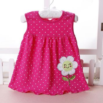 Baby Dresses 0-18 months Girls Infant Cotton Clothing Dress Summer Clothes Printed Embroidery Girl Kids Dress