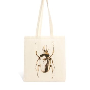 Borders & Frontiers Gilded Beetle Shopper Bag at asos.com