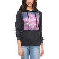Empyre Girls Find Your Anchor Chacoal Pullover Hoodie at Zumiez : PDP