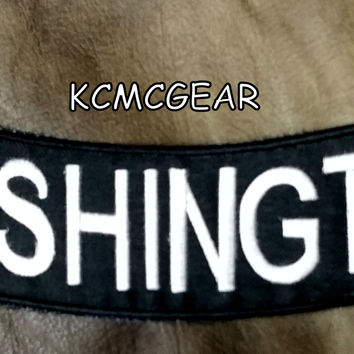 WASHINGTON Bottom Rocker Iron on Patch for Biker Vest BR439