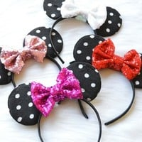 Sparkle Minnie Ears from Shelby Chic Boutique