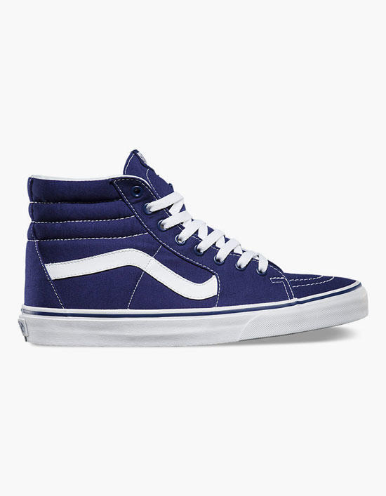 Vans Canvas Sk8-Hi Mens Shoes Blue In from Tilly s  5f8409d2bf77