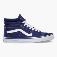 Vans Canvas Sk8-Hi Mens Shoes Blue  In Sizes
