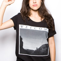 Welcome to Hollywood Boyfriend Tee Black