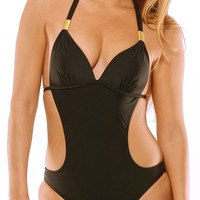 Kylie - Black One Piece Monokini