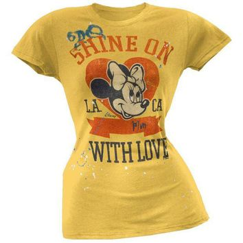 PEAPGQ9 Minnie Mouse - Shine On Juniors T-Shirt