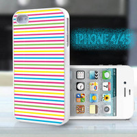 unique iphone case,glitter i phone 4 4s case,cool cute iphone4 iphone4s case,stylish  plastic rubber cases, red yellow  blue stripe , ZB3