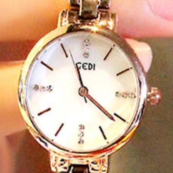The new genuine small watch, simple student waterproof fashion quartz watch White