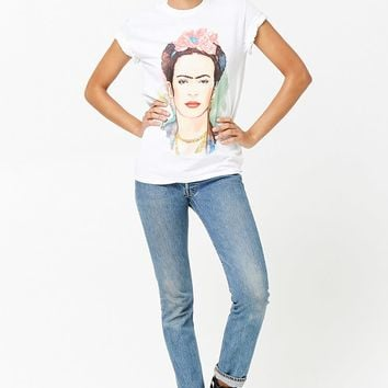 Frida Kahlo Watercolor Graphic Tee