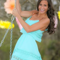 Daisy Days Dress-Mint