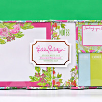 LILLY PULITZER: Sticky Note Set - Pink Lemonade