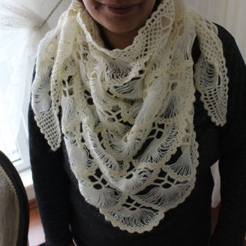 Handmade shawl , knitting shawl , Crochet knitted  shawl, Wrap for the night , Mother wedding shawls, The bride wedding shawl , handmade