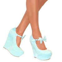 Perfect Me Womens Mary Jane Bow High Wedge Heels Platform Strappy Summer Sandal:Amazon.co.uk