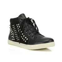 Studded Black High Top