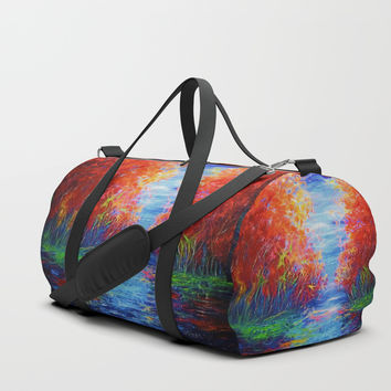 Lake View by OLena Art Duffle Bag by Lena Owens/OLenaArt