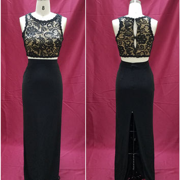 Two Piece Prom Evening Gowns from dress designer Darius