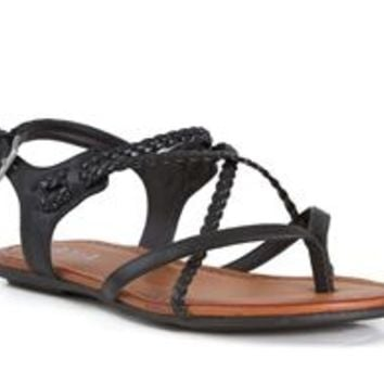 Mia Shoes Adrianna Braided Gladiator Sandals in Black NM1800-BLK