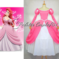 The daughter of the sea  Mermaid Princess Ariel dress Movie costume cosplay tailor-made