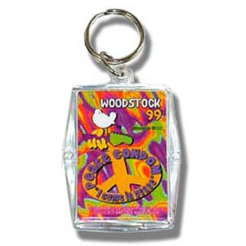 Woodstock 99 Come In Peace Plastic Key Chain Multi