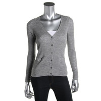 Marc Jacobs Womens Wool Ribbed Knit Cardigan Sweater