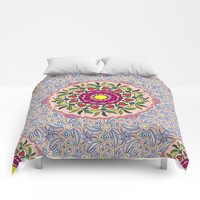 Garden Party Doodle Art Comforters by Gravityx9