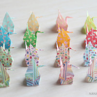 16 Name Place Cards / Origami Paper Crane / Wedding Reception / Birthday Party / Baby Shower / Handmade