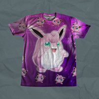 Jigglypuff Wigglytuff Pokemon Shirt- Two Sided *Ships Quickly* Dye Sublimation Unisex Shirt