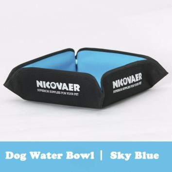 Portable Dog Outdoor Water Bowl (Sky Blue)
