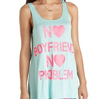 NO PROBLEMS GRAPHIC TANK COVER-UP