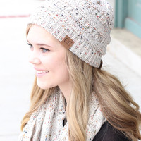 C.C.: Speckled Beanie {Oatmeal}