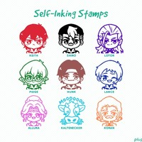 [OCTOBER PRE-ORDER] Voltron Stamps (3♪) by plupip ❄️ piplup