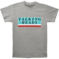 Talking Heads Men's  More Songs Logo Vintage T-shirt Heather