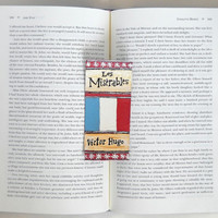 Hand Painted Bookmark // Les Miserables Classic Hardcover // Book Spine Bookmark // Victor Hugo // Gift for Readers // Book Club Gift
