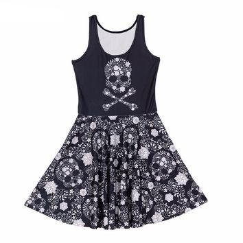 Skeleton Flowers Dress