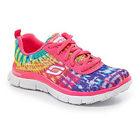 Skechers Girls' Skech Knit Appeal Sneakers - Neon Pink/Multi