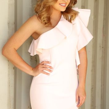 Falling In Love Dress: White/Nude - Dresses - Hope's Boutique
