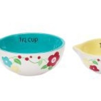Boston Warehouse Wild Flower Measuring Cup, Set of 4