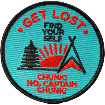 Chunk! No Captain Chunk Men's Get Lost, Find Yourself Embroidered Patch Green