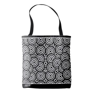 BW Circle Pile Minor Monogram Tote Bag