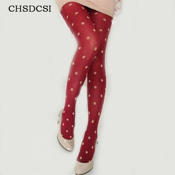 Bohemian  tights fashion retro dot shape lolita stockings high quality women candy color girls new arrival velvet pantyhose W095