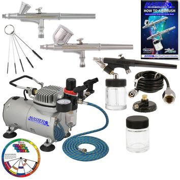 New 3 Airbrush & Compressor Kit